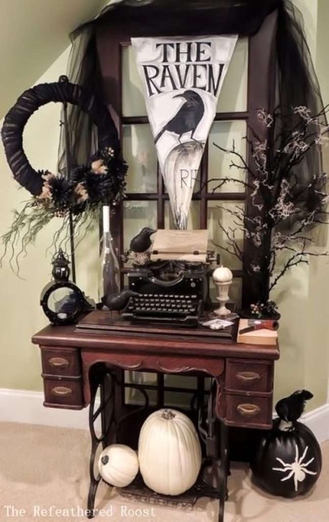 home decor vintage chic per halloween