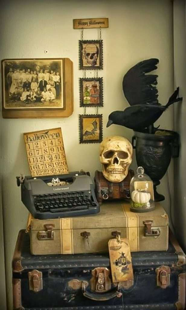 home decor vintage chic per halloween