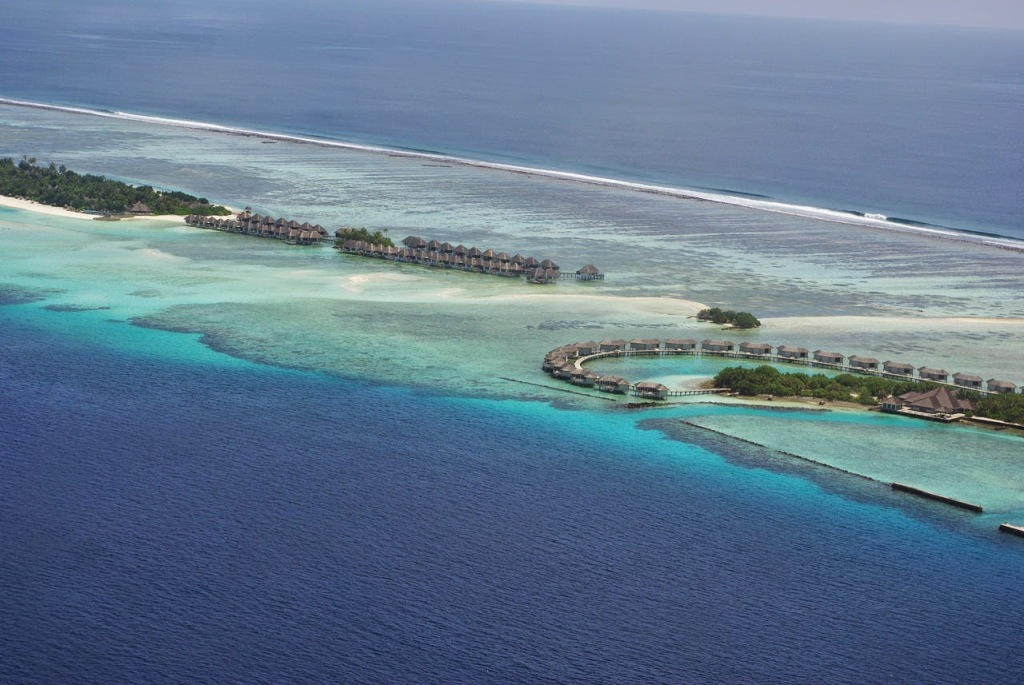 Maldives, panoramic view