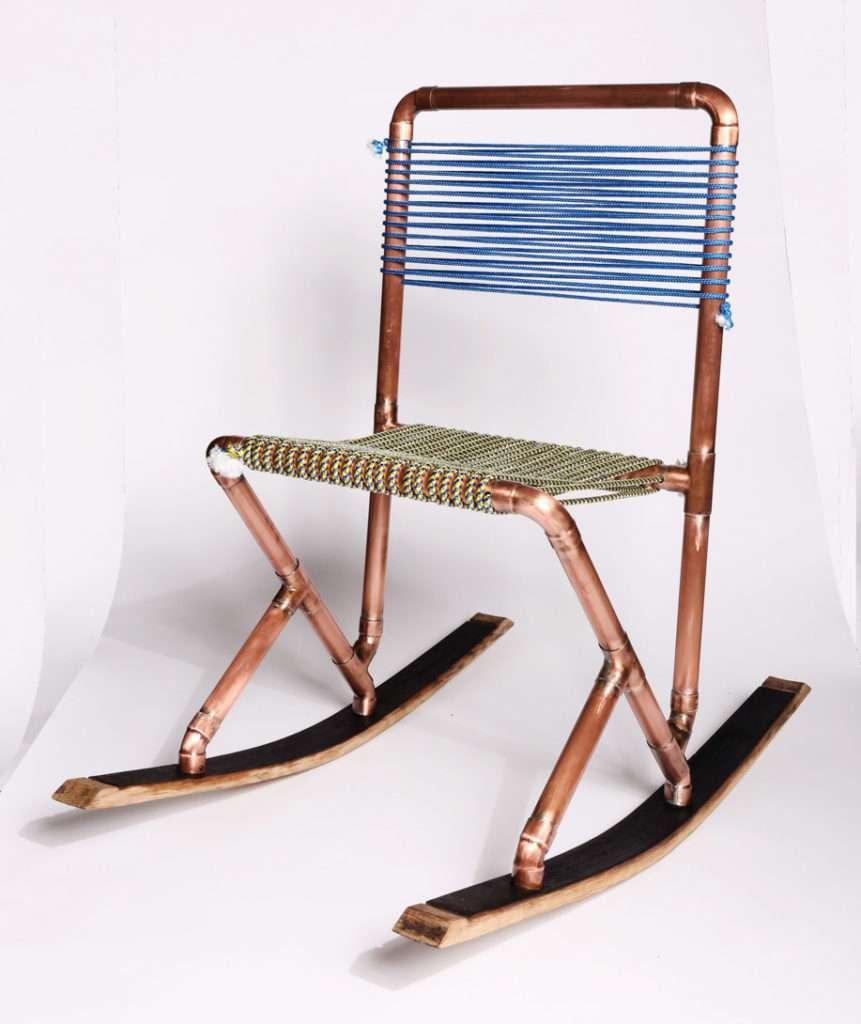 sedia, sedia fatta a mano, sedia in rame, creazioni design