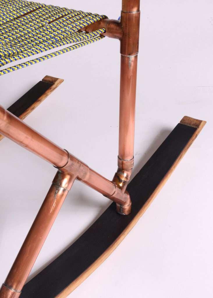 sedia moderna, sedia in rame, sedia realizzata a mano, creazioni design