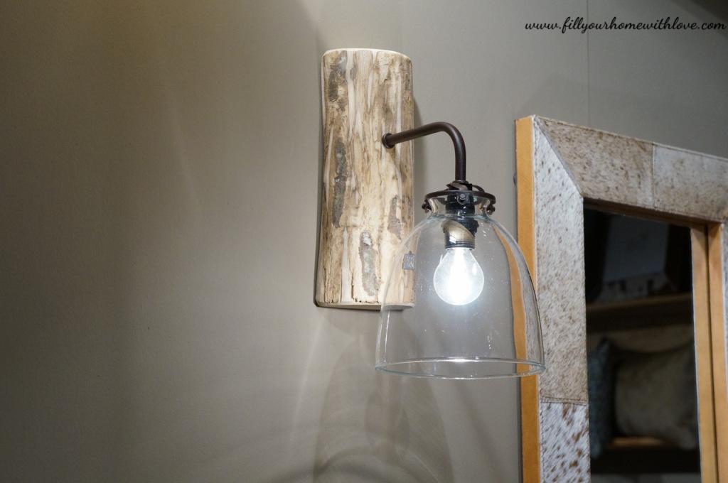 lampada, illuminazione, lampada a parete, in legno, lampada in legno