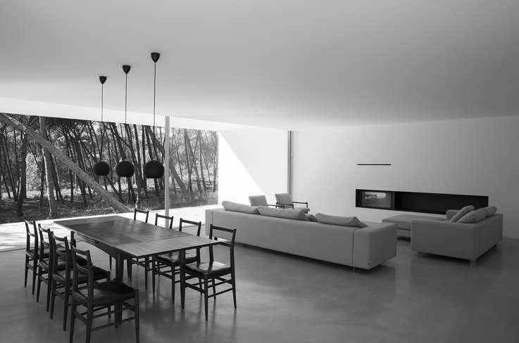 zona giorno villa modernaFrederico Valsassina Arquitectos