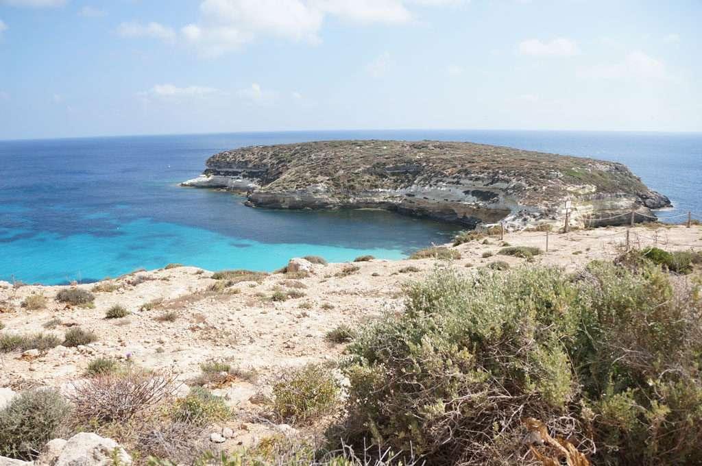 sicily, lampedusa, resort, cupola bianca, spiaggia isola dei conigli