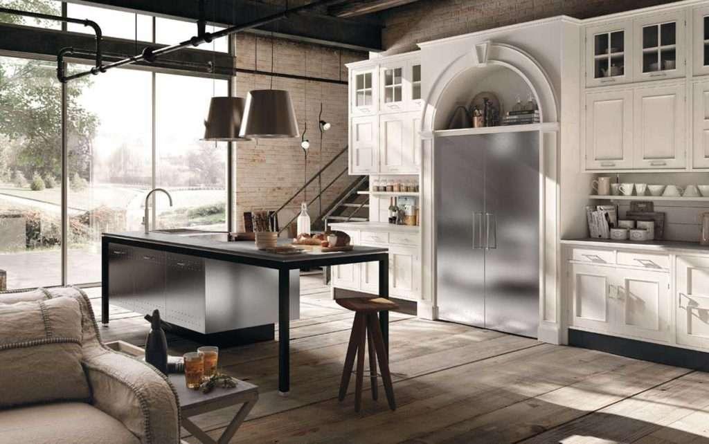 cucina montserrat marchi group, cucina bianca in stile classico, cucina classica