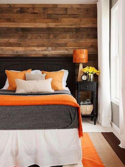 cuscini, lenzuoli arancioni