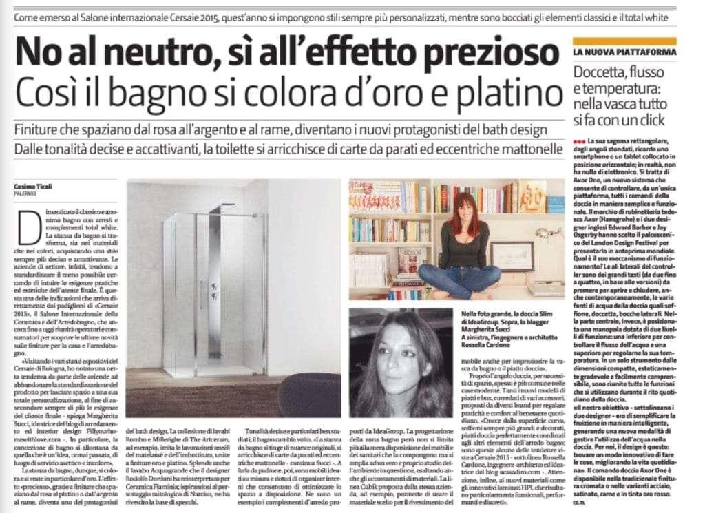 interview on il giornale di sicilia