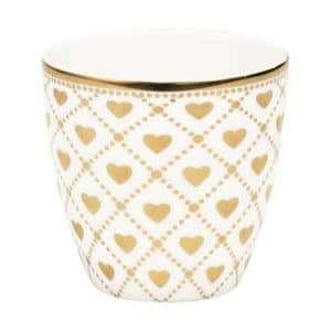 tazza greengate collezione oro e bianca