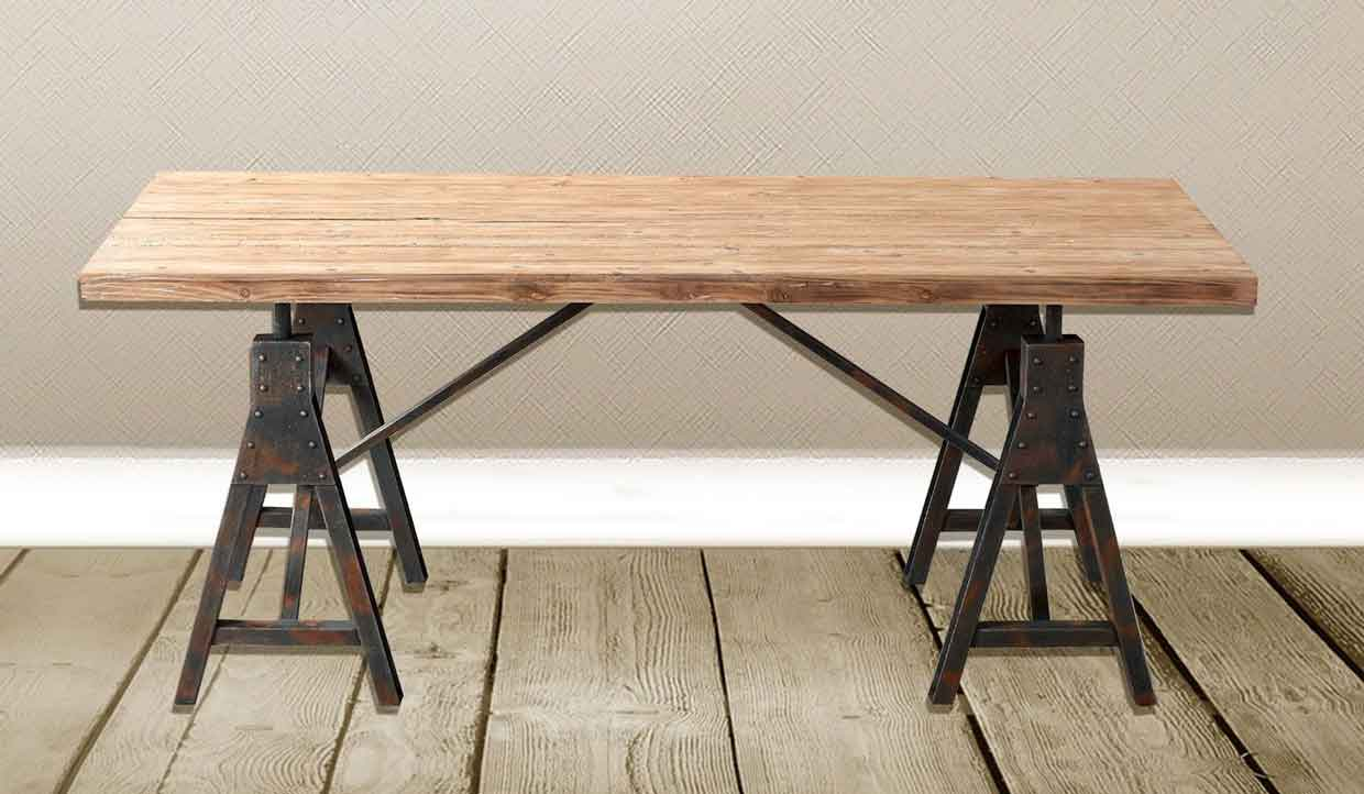 industrial style rectangular table
