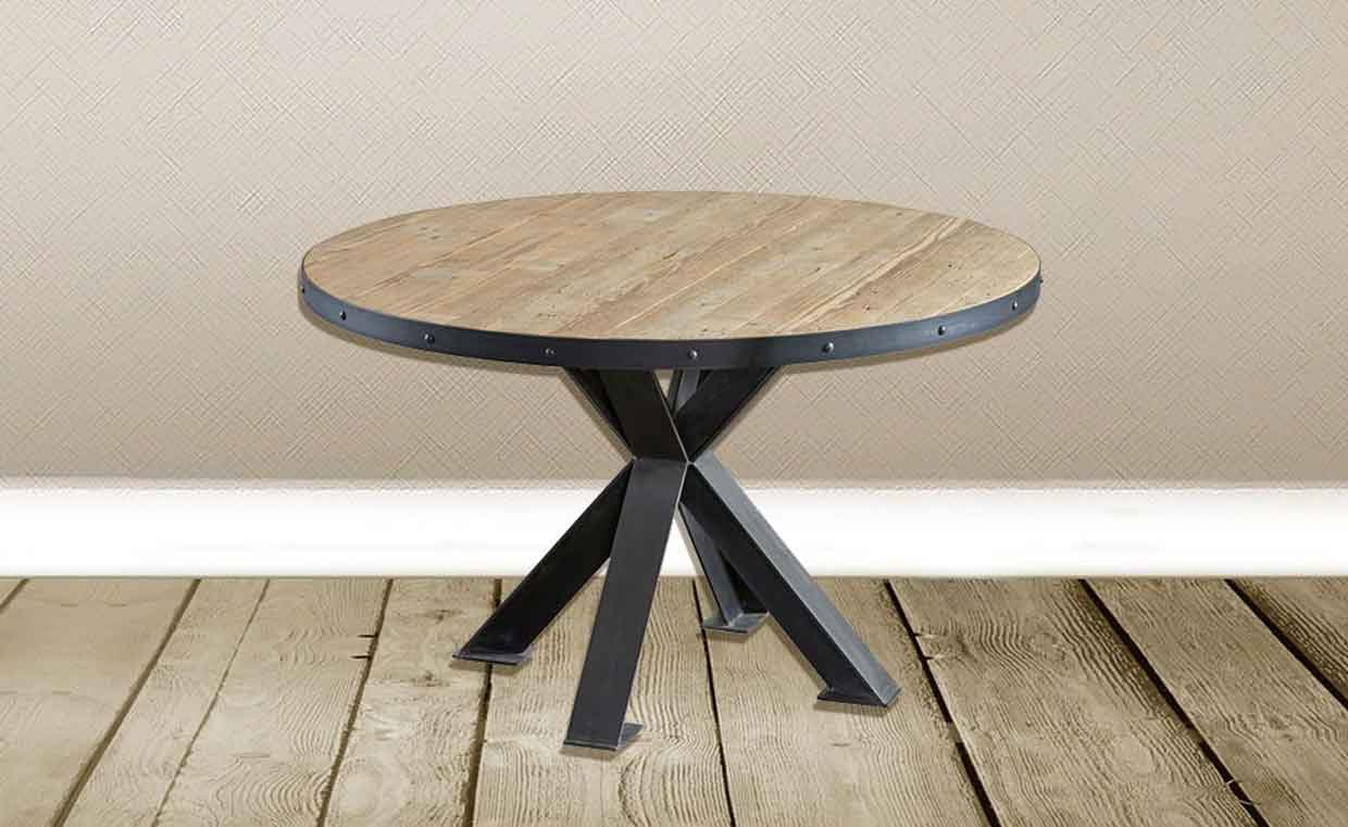 industrial style, round table