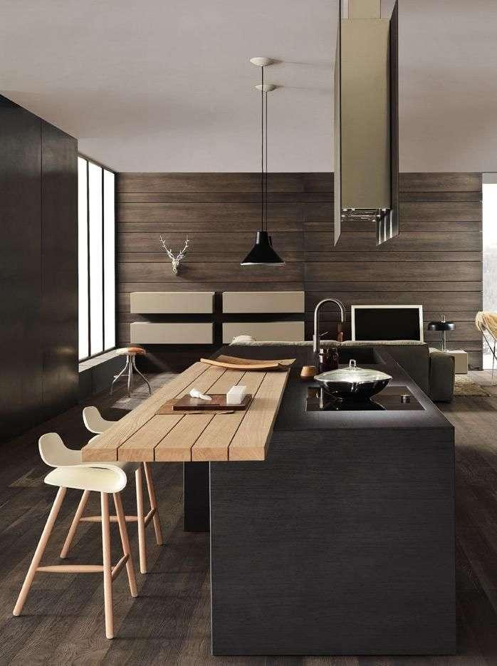 cucina centrale in stile moderno