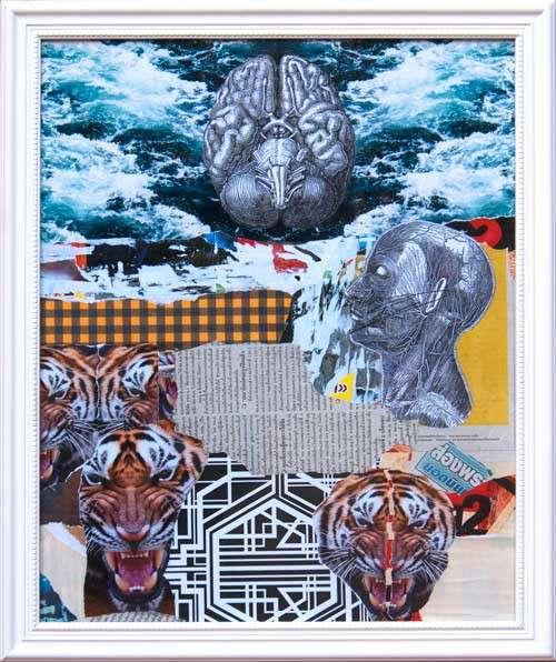 Il quadro astratto Collage Via di Fuga.
