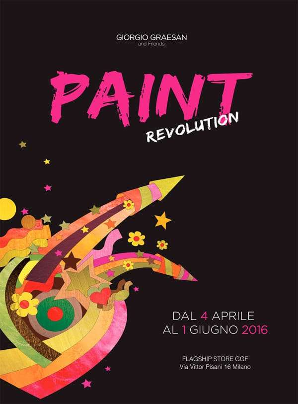 Fuorisalone 2016 and the Paint Revolution signed by Giorgio Graesan.
