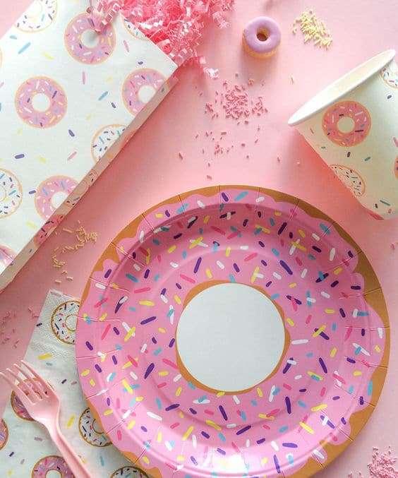 donuts party come apparecchiare la tavola