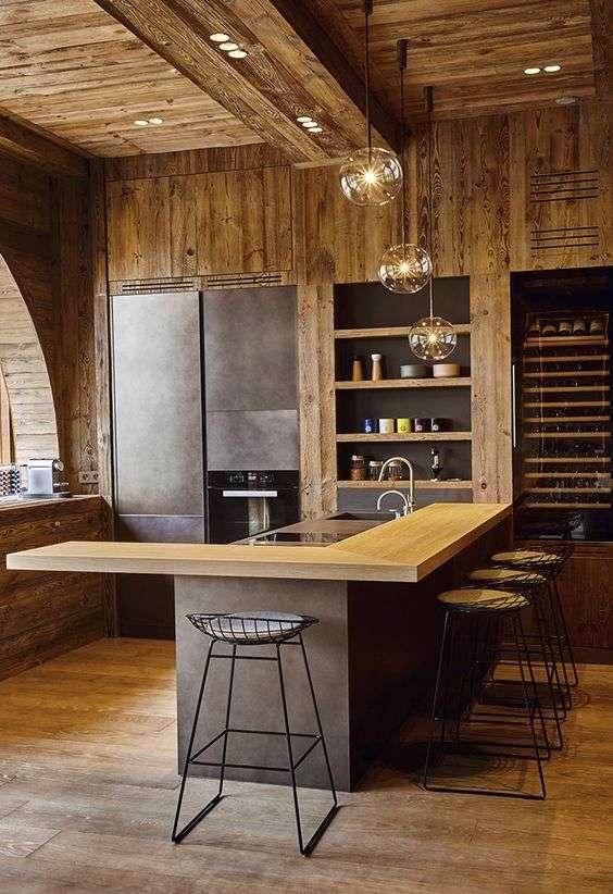 cucina di montagna di design