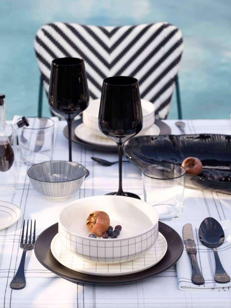 L'eleganza del bianco e nero in tavola by Zara Home