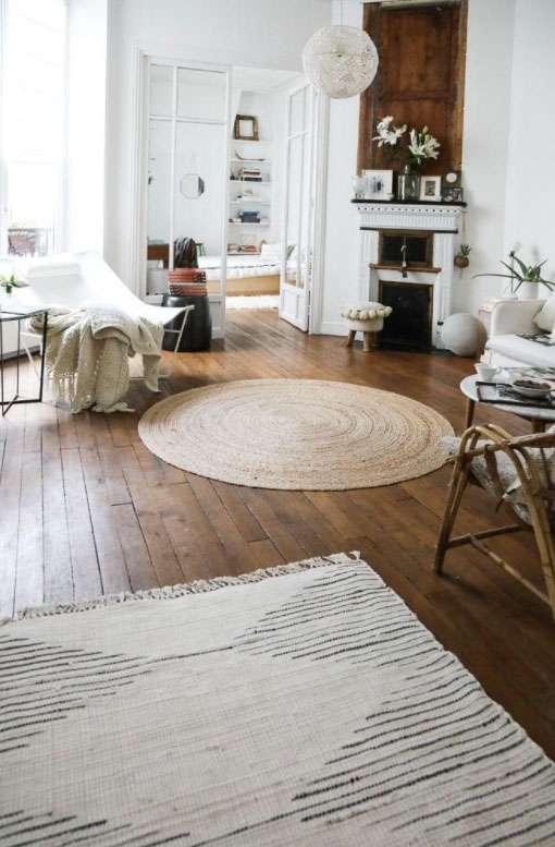 arredare con i tappeti e forme circolari