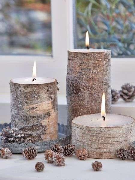 candele profumate corteccia