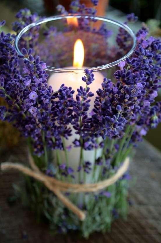 candele profumate per la casa alla lavanda