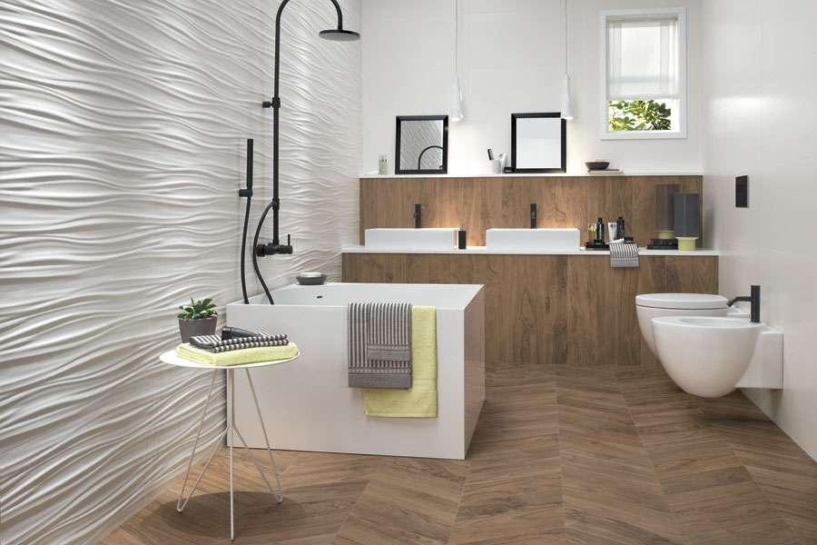 Piastrelle 3d tridimensionali per il bagno for Planner bagno 3d