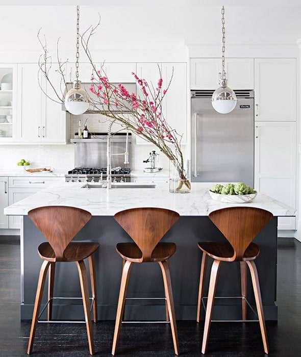Sgabelli di design: legno e metallo per cucina ...
