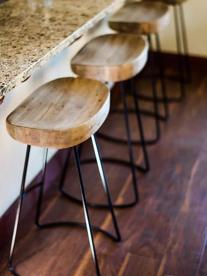 Sgabelli In Legno Design.Sgabelli Di Design Legno E Metallo Per Cucina