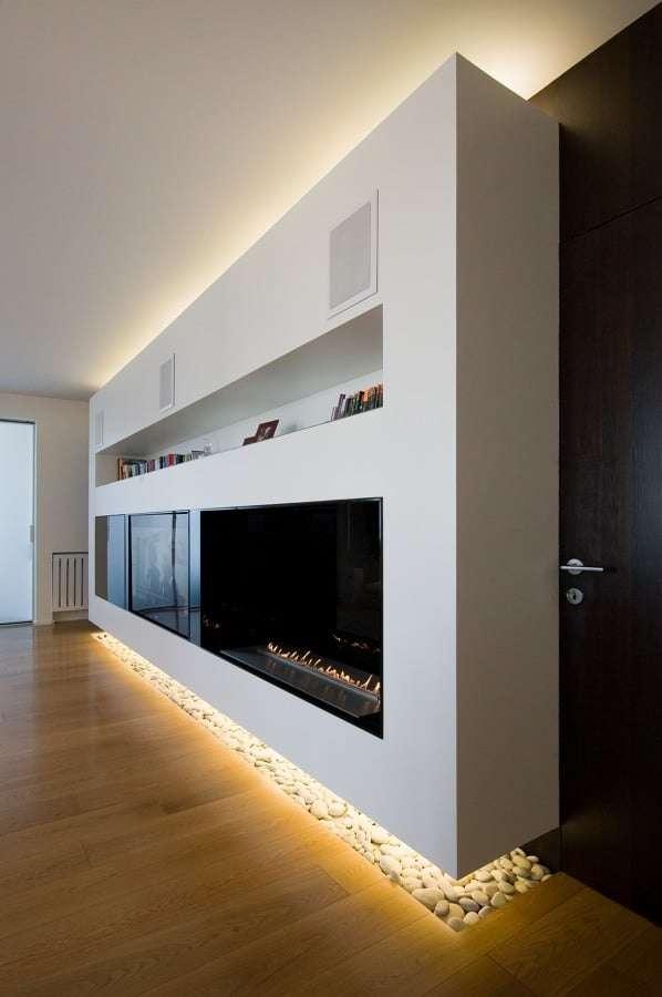 tecnologia LED parete sospesa