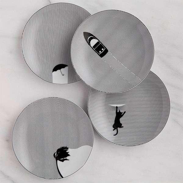 ceramiche di design con illusione ottica