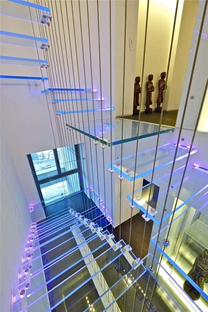 scale moderne per interni in led