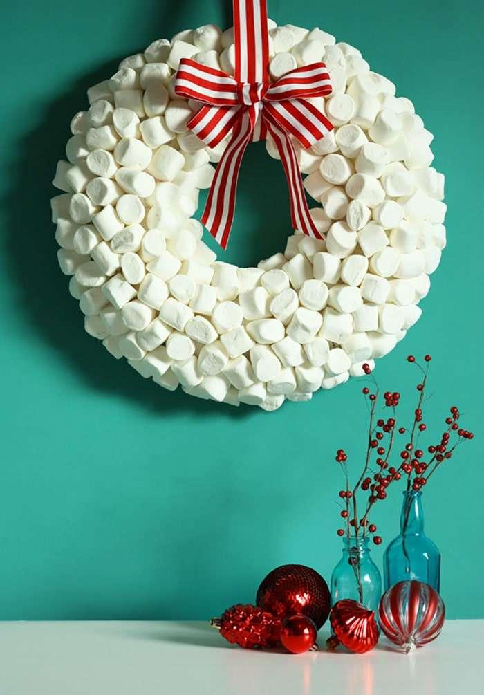 ghirlande di natale con marshmallows