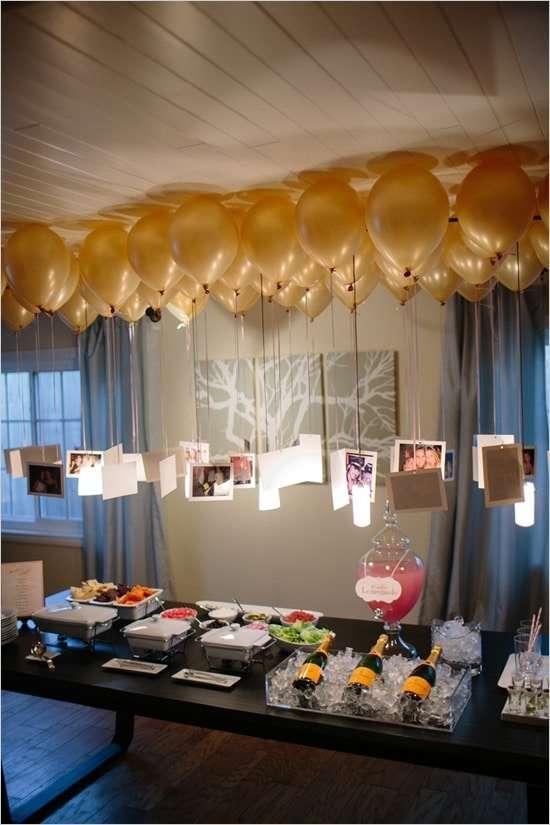 idee per capodanno con fotografie e palloncini