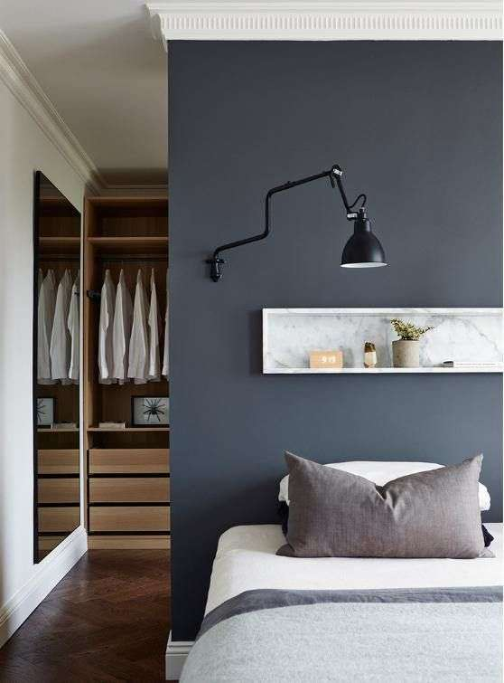 idee cabina armadio colori a contrasto