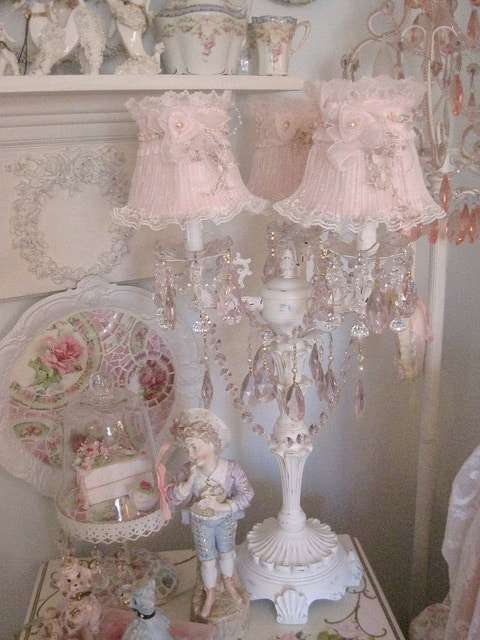 lampade shabby chic a candelabro