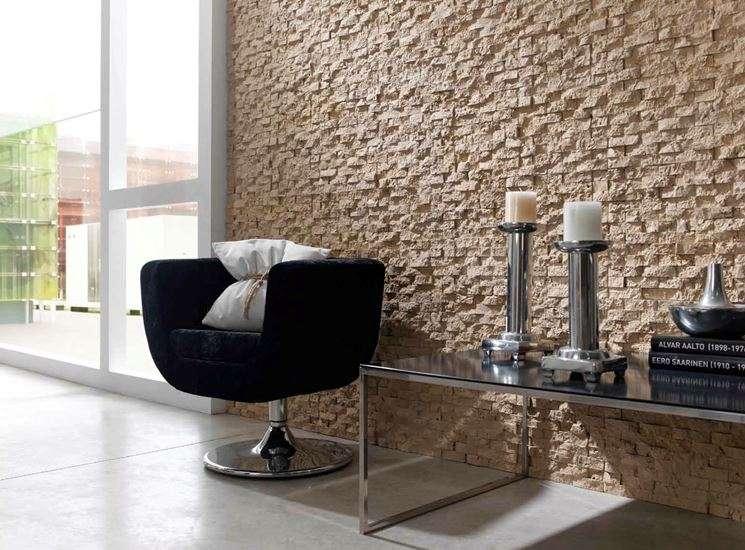 pareti di pietra da interno con taglio piccolo