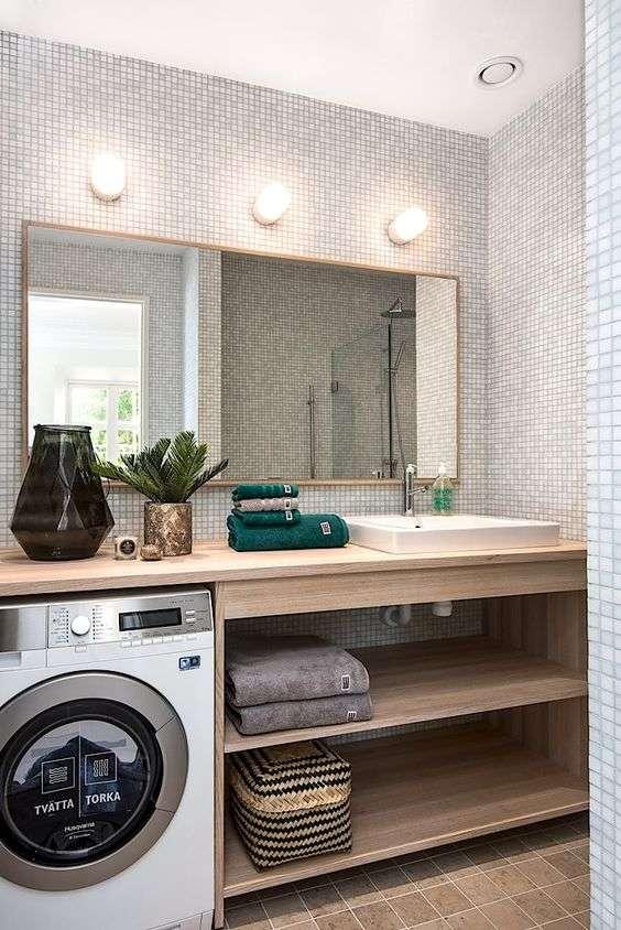 bagno piccolo e mobili a incasso