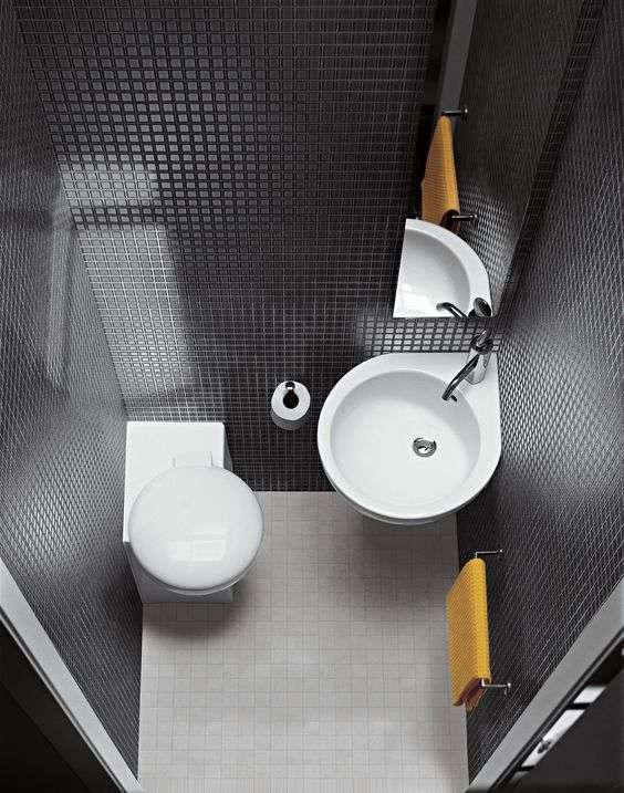 bagno piccolo e sanitari minimi