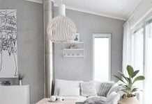 color tortora chiaro in soggiorno