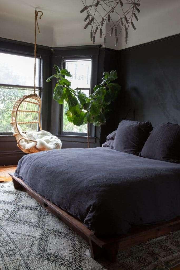 colori pareti camera da letto blu notte
