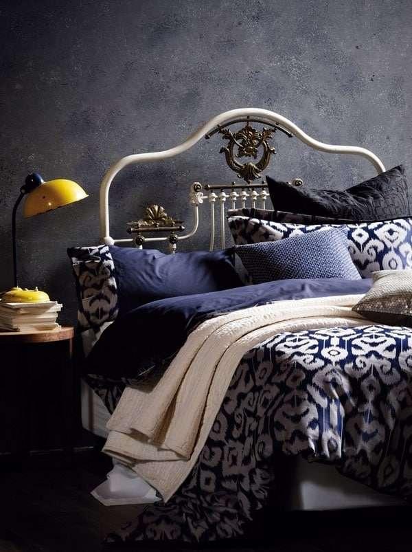 colori pareti camera da letto blue