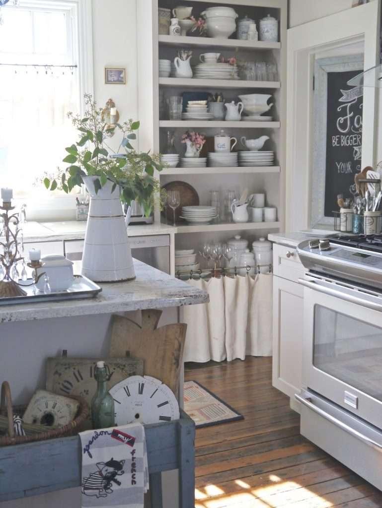 cucine provenzali con elementi stoffa