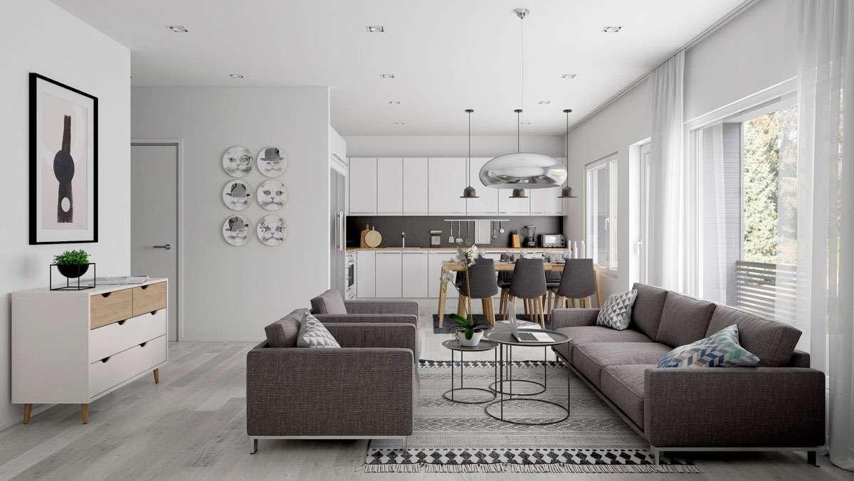 Open Space Come Dividere Zona Living E Cucina