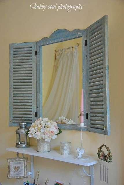 persiana specchio shabby