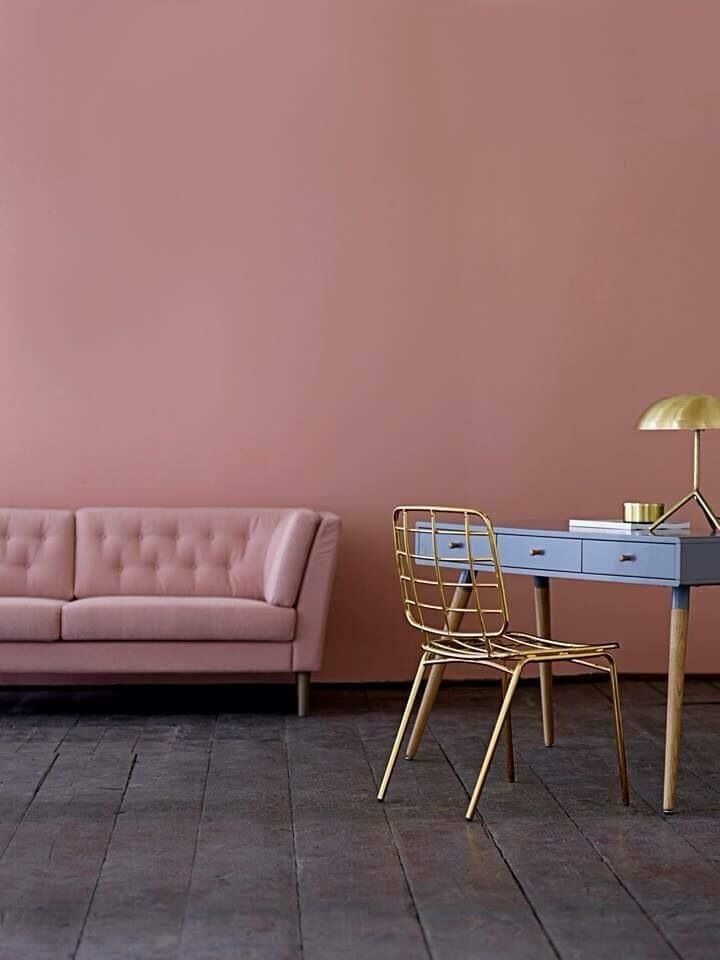 colori pareti soggiorno rosa
