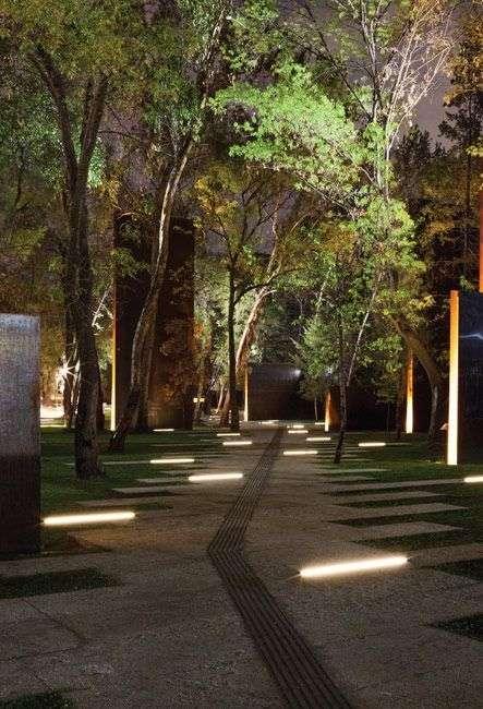 illuminazione da giardino calpestabile
