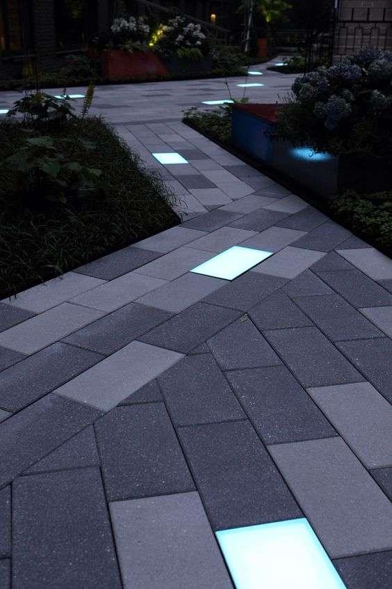 illuminazione giardino da pavimento da Pinterest
