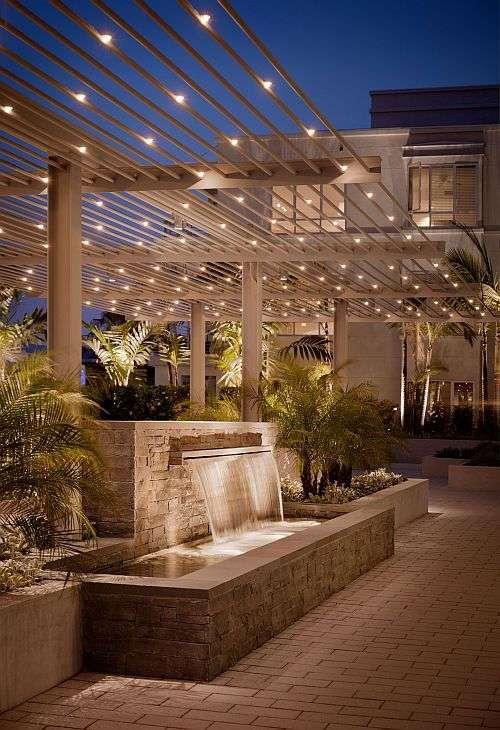 illuminazione giardino su struttura