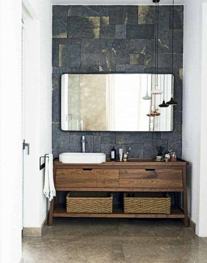 lampadari bagno su lavabo in rame
