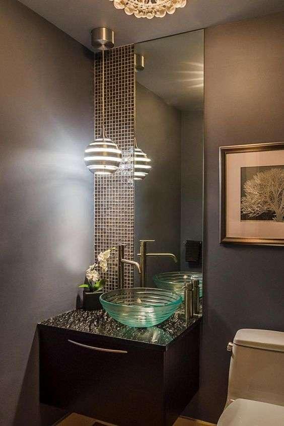 lampadario tondeggiante per bagno