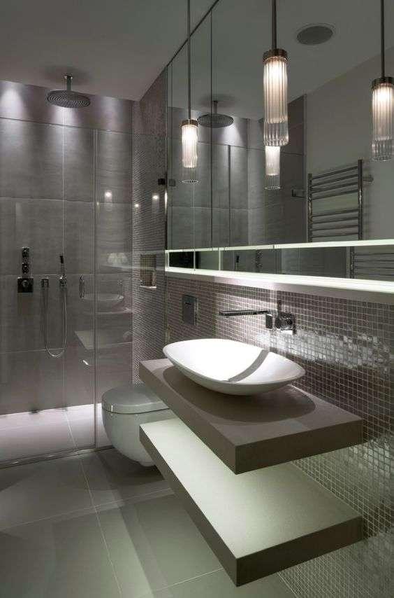 vetro zigrinato per illuminazione bagno