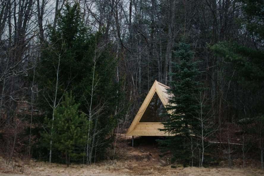 case vacanze in legno immerse nella foresta